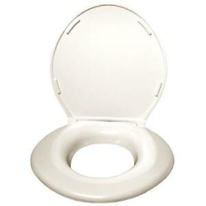 Big John Original Toilet Seat w Cover (Cream) New In Box