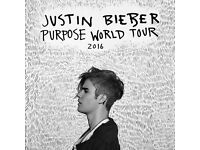 x2 Justin Bieber Purpose Tour Tickets FRIDAY OCTOBER 21ST