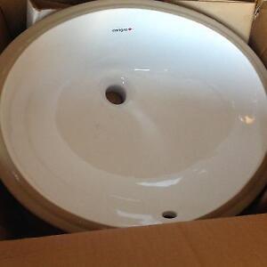 Brand new undermount bathroom sink