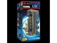 Fluval u3 filter with media