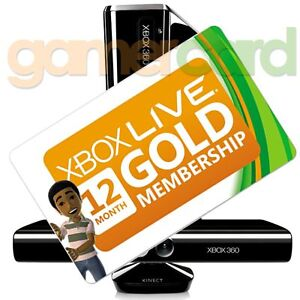 XBOX LIVE 12 MONTH GOLD SUBSCRIPTION MEMBERSHIP CARD FOR AUSTRALIAN 360 3