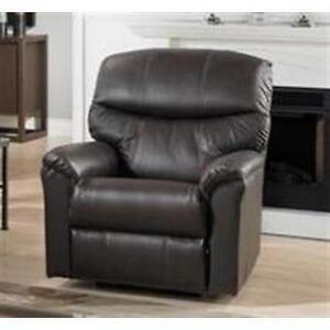 Sofa 3 places et son fauteuil  assorti en cuir Elran