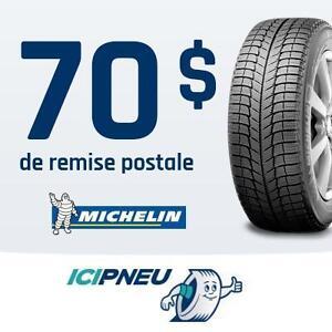 70$ de remise postale à l'achat de 4 pneus Michelin sélectionnés
