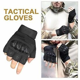 BRAND NEW Packed Outdoor Sport / Tactical Airsoft Hunting / Motorcycle Men Gloves - Black - Size M