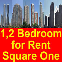 1, 2 bedroom condos near by Square One from RENT  نتكلم عـربـي