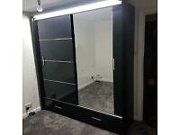 "✨✨""Elegant New High Gloss SYCYLIA Sliding Door Wardrobe - Better Price Best Quality ""✨✨"