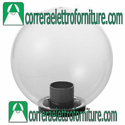 Lampione globo giardino esterno SFERA 400 mm trasparente MARECO 1080501T