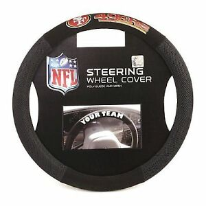 891fe9dc8381b San Francisco 49ers Official NFL Mesh Steering Wheel Cover by Fremont Die  985055