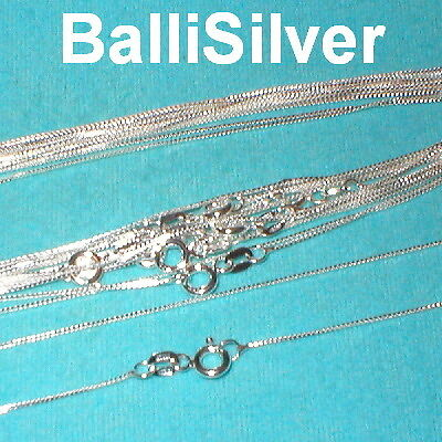 "SALE! 50 St Silver Fine BOX 012 Chain Necklaces Lot 16"""