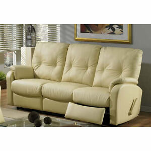 """GORGEOUS """" ELRAN """" REAL LEATHER RECLINING SOFA *** CAN DELIVER"""