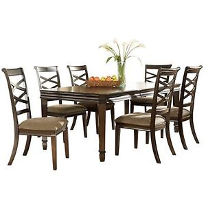 Signature Design by Ashley 'Hayley' Dark Brown Dining Room Table