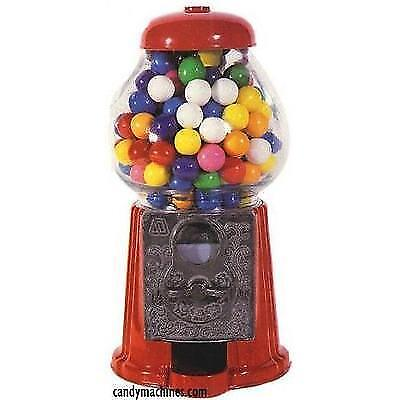 "Carousel Petite Gumball Machine Bank, 9"" tall - Die cast Metal Glass Globe (9"","