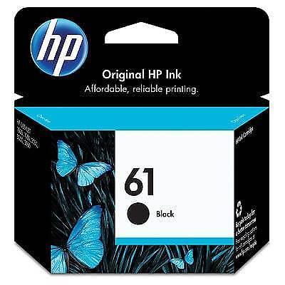 HP 61 Original Ink Cartridge, Black (CH561WN)