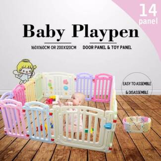 NEW Large Colourful Baby Nursing Playing Playpen 1.6m 1.2m