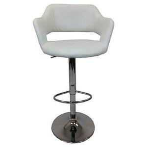 Adjustable Height Bar Stool by Creative Images International WHITE NEW