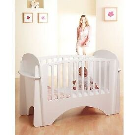 Amazing Lindam solo cot in white solid wooden cot easy to assemble no screws all proceeds4charity