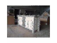 "Island Unit with wine rack and full width shelf ""Handmade"" Solid Pine"