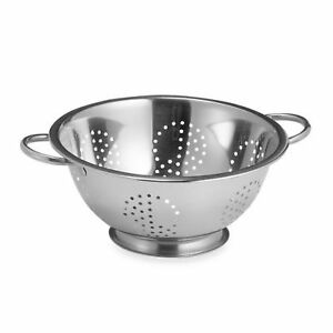 Stainless Colander 6.1 Litre - Silicone non slip base BRAND NEW