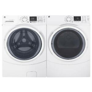 BRAND NEW WASHER DRYER STEEM WHITE PAIR GE.MOD.GFW450SKWW
