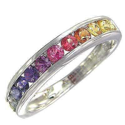 engagement rings rainbow ring ebay bhp sapphire