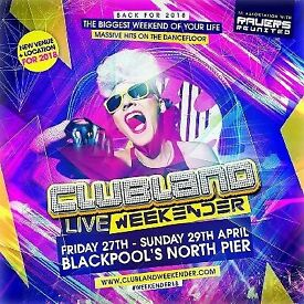 Clubland Live Weekender (Plus Rides)