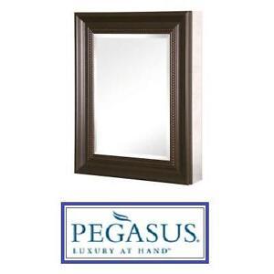 "NEW PEGASUS 20"" MIRRORED CABINETS - 128308714 - FRAMED DOOR MEDICINE CABINET"