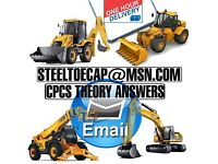 OFFICIAL CPCS Theory Test Answers Plant Excavator Digger Dumper Roller Slinger