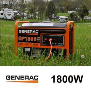 NEW GENERAC 1800W PORTABLE GENERATOR - 132696882 - 168 cc GASOLINE GAS GENERATORS POWER EQUIPMENT OUTDOORS WORKSITE J...