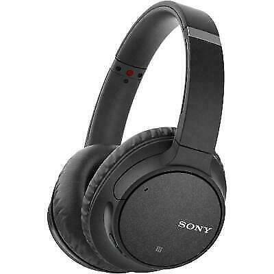 Sony WH-CH700N Wireless Noise-Canceling Over-Ear Headphones with Mic, Black