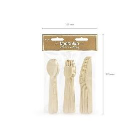 18pce Wooden cutlery set - £1.65 Plus P&P