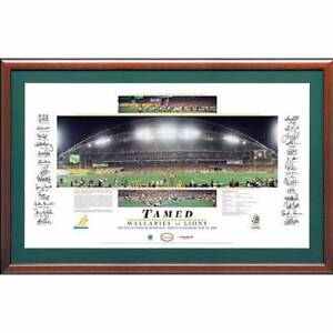 'Tamed' Team Signed Wallabies vs Lions 2001 Lithograph Peats Ridge Gosford Area Preview