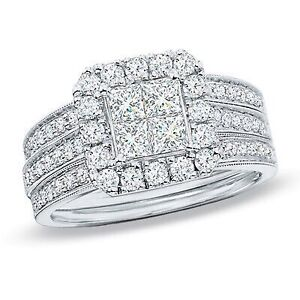 Beautiful engagement wedding ring set