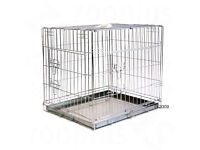 Dog Crate Small - Double Door Transport Cage