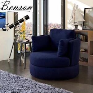 NEW BENSON SWIVEL STORAGE CHAIR - 123272676 - BLUE