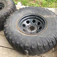 33x12.5x 15R tires and rims