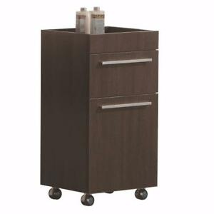Side cabinet on wheels, Luxo Marbre, choice of 2 colors