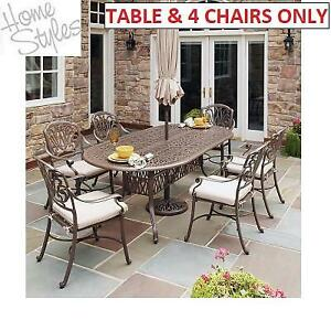 NEW* HOMESTYLES 5PC PATIO SET 5559-348 248853973 FLORAL BLOSSOM TAUPE PATIO FURNITURE DINING CAST ALUMIMUM