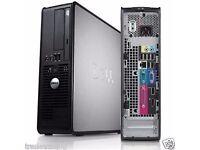 7 skyy DELL OPTIPLEX WINDOWS 7 COMPUTER DESKTOP TOWER PC INTEL 2GB RAM 250GB HDD WIFI