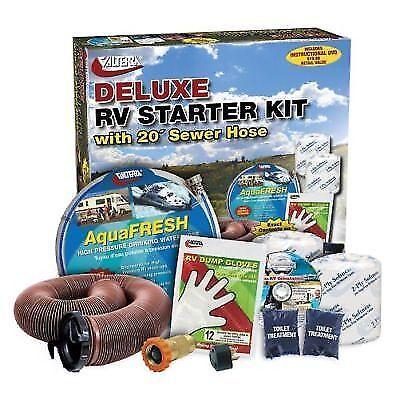 Valterra K88108DVD De Luxe RV Outdoor Accessory Starter Kit w/ Orientation DVD