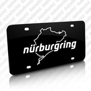nurburgring track license plate germany decal vw bmw audi porsche stig m3 rs4 m5 ebay. Black Bedroom Furniture Sets. Home Design Ideas
