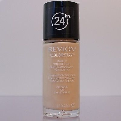 The first one that I would recommend is a well known favorite among the beauty world and it is the Revlon ColorStay foundation for Combination to Oily skin.