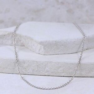 """Sterling Silver 3mm Cable Chain 17.75"""" (#2.11)"""