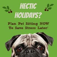 Gone for the holidays? The pets can stay while your away!