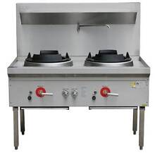 New Commercial Gas Waterless Double Wok Burner Heavy Duty Westmead Parramatta Area Preview