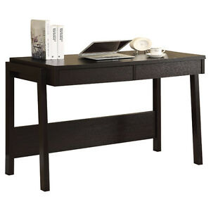 Black writing desk with 2 storage drawers