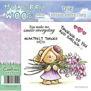 New Mulberry Wood 2012 Stamp Everyday Smile