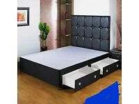 BRANDNEW Divan Bed Order Today Deliver Today Decent Quality Divans FREE Plain HEADBOARD