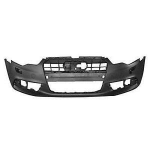 2012-2015 Audi A6 Bumper Front With Headlight Wash Hole Without Sensor Hole Without S-Line Pkg Primed