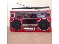 Vintage Toshiba RT-90S Boombox Radio and Cassette 80's style (like picture but in black colour)