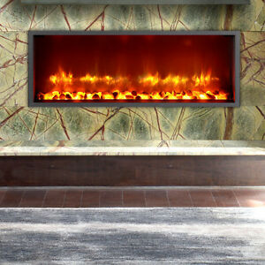 "35"" Built-in LED Wall Mount Electric Fireplace (Free Shipping)"